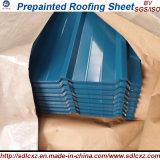(0,14 mm-0,8 mm) Feuille de toiture en acier ondulé galvanisé en couleur