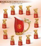 12 vasos de Zodiac traje, regalo de Año Nuevo, las características bien Wineglass
