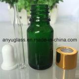 De Fles van het Druppelbuisje van het glas voor Groenachtig blauwe Amber van de Essentiële Olie