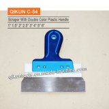 Строительство декор краски оборудование ручной инструмент удаления ножа с двойной цвет пластмассовую ручку