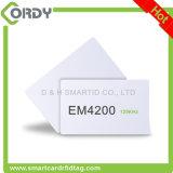 cartão branco do espaço em branco TK4100 EM4100 H4200 EM4200 do PVC de 125kHz RFID