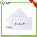 125kHz RFID PVC白いブランクTK4100 EM4100 H4200 EM4200のカード