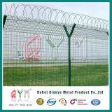Сваренная авиапортом загородка безопасности авиапорта PVC ячеистой сети Coated