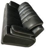 Черная кожаный софа, самомоднейшая софа, живущий софа комнаты (B. 939)