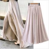 Pantalon desserré Chiffon de couleur pure d'habillement de mode pour les pantalons du femme