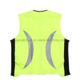 Maglia corrente di riciclaggio riflettente di sicurezza di sport di alta visibilità