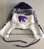 Шлем Earflap зимы теплый с подкладкой шерсти для клуба спорта (HJB107)