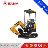 Sany Sy18 1.8 톤 판매를 위한 작은 파는 기계 소형 굴착기 싸게