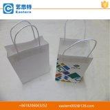 Sacchetto bianco su ordinazione promozionale della carta kraft Di modo di qualità di Hight con le maniglie Twisted