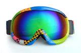Lunettes enduites de ski de lunetterie de sports d'arc-en-ciel avec les lentilles changeables