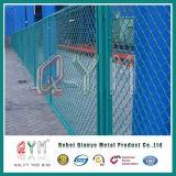 Cerca galvanizada da ligação Chain de aço inoxidável de engranzamento de fio do diamante/cerca do estacionamento