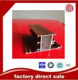 Perfil de aluminio de la impresión de madera para el polvo de Windows que cubre la rotura termal
