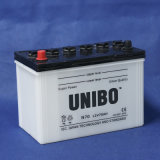 標準N70 12V70ahの高性能JISは満たされた自動電池を乾燥する