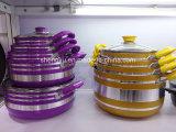 Vaschetta & POT di frittura antiaderanti rivestiti di alluminio della lega per gli insiemi Sx-T006 del Cookware