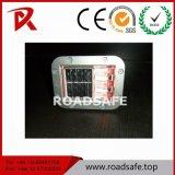 Roadsafe 교통 안전 둥근 방수 사려깊은 태양 LED 알루미늄 도로 장식 못