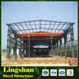 Edificio de dos pisos de la estructura de acero