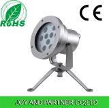 9W Single Color LED Underwater Spotlight mit Edelstahl, IP68, Bridgelux hohe Leistung LED