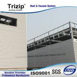 Folha de parede Trapezoidal de metal para o prédio.