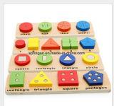 Forma geométrica brinquedos intelectual de madeira