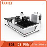 Machine de découpage de laser de fibre de la bonne qualité 500With1000W, machine de découpage en métal de laser de fibre à vendre