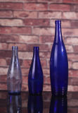 Botella de vidrio azul/azul cobalto la botella de cristal