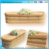 O Japão Style Material Natural Willow Wicker Funeral Estojos Coffin