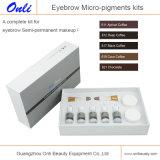 Uitrusting van de Make-up van de Kleur van het Pigment van de wenkbrauw de Permanente