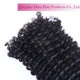 ブラジルの毛の拡張ねじれたカールのWeftedの束のバージンの人間の毛髪の織り方