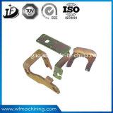 Metal de hoja de cobre amarillo de la precisión que estampa partes con servicio de electrochapado