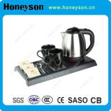0.8L Stainless Steel Electrical Kettle Tray Set per Hotel