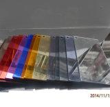 Folha plástica de espelho de acrílico de dois lados de prata