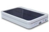De draaibare en Vouwbare Zonne Mobiele Lader van de Bank van de Macht van de Telefoon met LEIDEN Licht