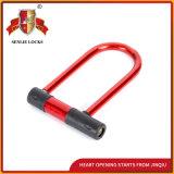 赤いカラー機密保護耐久Uの形ロック
