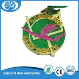 Medalla de metales de brillo de oro personalizado