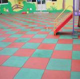 De RubberTegel van de gymnastiek/de Met elkaar verbindende RubberTegel van de Gymnastiek/de Kleurrijke RubberTegels van de Gymnastiek