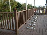 O composto de plástico de madeira, WPC em deck Deck sólido, 130 X 18 mm