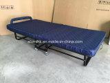 Кровать гостиницы складная экстренная с толщиной синью тюфяка