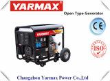Yarmax 공기에 의하여 냉각되는 디젤 엔진 발전기 단일 위상 열린 구조 디젤 엔진 발전기 세트 Genset Ym6500e