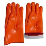 Guirlande de gants Guourdette Hi-Vis Orange PVC Gant de travail industriel à double crevaison