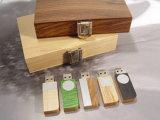 Mecanismos impulsores de madera del USB de la pluma con dimensión de una variable de encargo