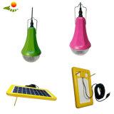 Niedriger Preis, der LED-angeschaltenes Leselampe-SolarhauptSolarbeleuchtungssystem Sre-88g-3 hängt