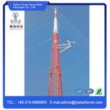 Горячий DIP оцинкованной стали решетчатые башни Guyed для телекоммуникационных