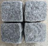 普及した自然な花こう岩G654 Cubicsの安い敷石屋外のCubestone