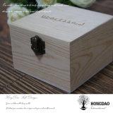 Hongdaoははさみ金Wholesale_Dが付いている木のパスポートの収納箱をカスタム設計する