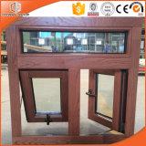 Landhaus-Gebrauch-hölzernes Korn-Ende-Außenaluminiumrahmen-Fenster-, amerikanisches u. australischesart-festes Holz-Markisen-Fenster für Landhaus