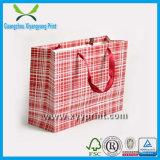Изготовленный на заказ мешок подарка джута изготовления бумажного мешка подарка Velet печатание