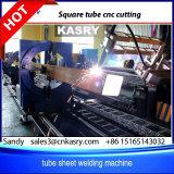 Tube carré en métal de plasma biseau CNC Profil du tuyau de machine de découpe pour les projets d'acier