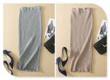 2017 봄 허리에 있는 새로운 디자인 태양열 집열기 뜨개질을 한 탄력 있는 허리띠 긴 치마
