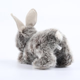 Real Like Plush Soft Stuffed Animal Grey Rabbit Toy