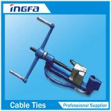 留め具および切断のための金属ケーブルのタイストラップのツール